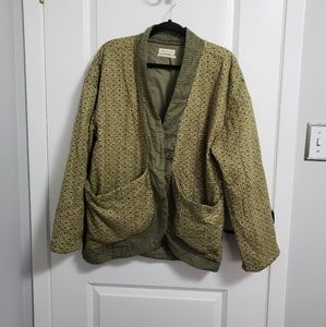 URBAN OUTFITTERS Green Filled Cardigan Jacket
